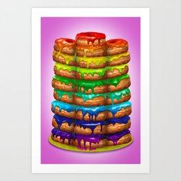 Donuts I 'Sweet Rainbow' Art Print