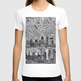 louisville city skyline 3 T-shirt