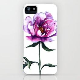 Watercolor Peony iPhone Case