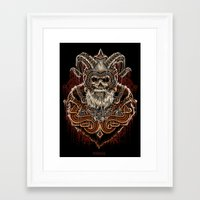 viking Framed Art Prints featuring VIKING by Demones