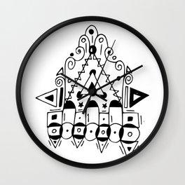 Abstract B&W Wall Clock