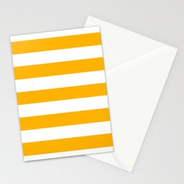 UCLA gold - solid color - white stripes pattern Stationery Cards