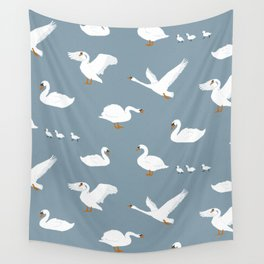 Summertime Swans Wall Tapestry