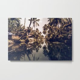 Kerala Backwater Metal Print