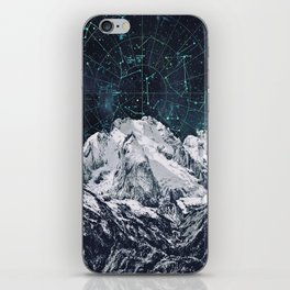 Constellations over the Mountain iPhone Skin