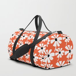 Daisies In The Summer Breeze - Orange White Black Duffle Bag