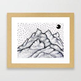 Moonlight Mountain Framed Art Print
