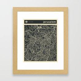 Jerusalem Map Framed Art Print