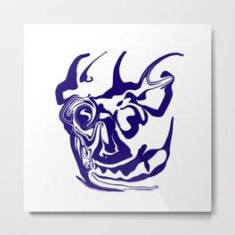 face8 blue Metal Print
