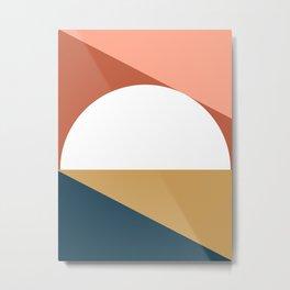 Mid Century Modern Sunset Nº1 Metal Print