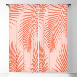 Coral Palms ~ Summer Tropical Pattern Blackout Curtain