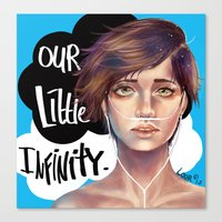 fault in our stars Canvas Prints featuring The Fault in Our Stars by Loorae