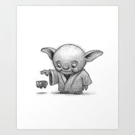 Lil Yoda Art Print