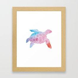 Watercolor Sea Tu Framed Art Print