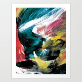 Abstract Artwork Colourful #3 Art Print