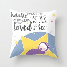 Do you know how loved you are? Throw Pillow