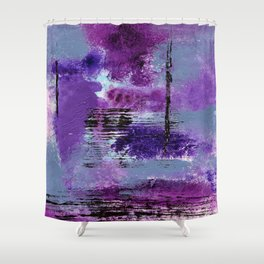 Purple Explosion Shower Curtain