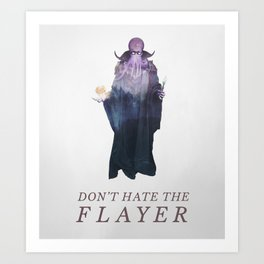 Mind Flayer (Typography) Art Print