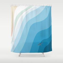 Shark Beach  Shower Curtain