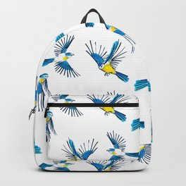 Flying Blue Tit / Bird Pattern Backpack