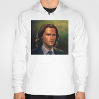 sam winchester Hoodies featuring Sam Winchester from Supernatural by Annike