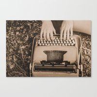 write Canvas Prints featuring Write. by Wendy Waldrop