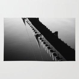 River Reflection of the Millennium Bridge, Lancaster Rug
