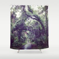 spanish Shower Curtains featuring Spanish Moss by Lillian Ondus