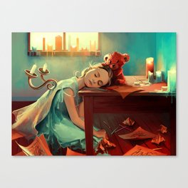 When she was six Canvas Print