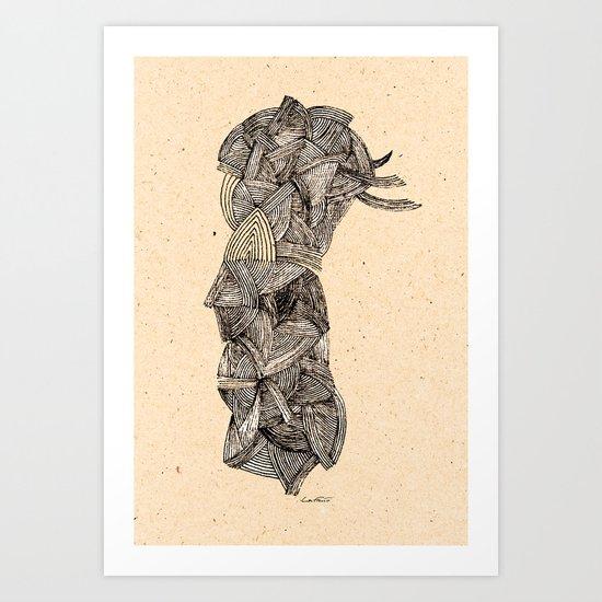 - old pen for souvenirs - Art Print