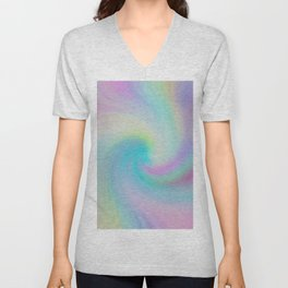 Soft Swirl Pattern Unisex V-Neck