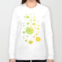 bubbles Long Sleeve T-shirts featuring Bubbles by DagmarMarina