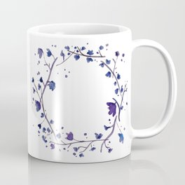 Ultraviolet Floral Watercolour Wreath Coffee Mug