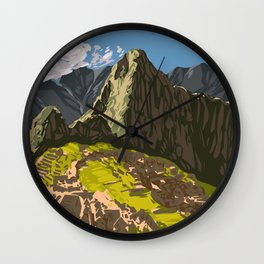 Machu Pichu Wall Clock