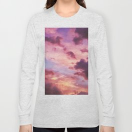 Pink and Purple Sunset (Color) Long Sleeve T-shirt