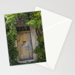 Provence Door covered with green vines Stationery Cards