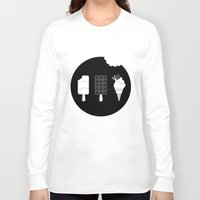 ice cream Long Sleeve T-shirts featuring ice-cream  by Li9z