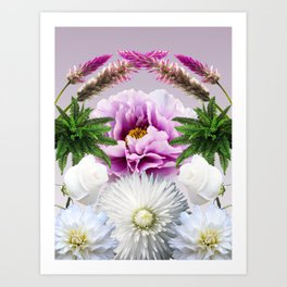 Lilac Kiss Art Print