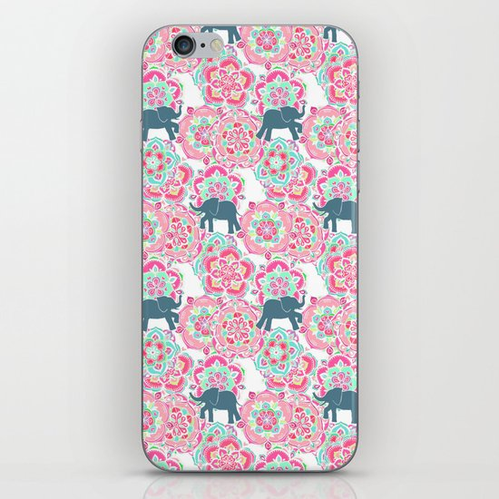 Tiny Elephants in Fields of Flowers iPhone & iPod Skin