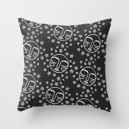 Sleepy Moon Pattern Throw Pillow