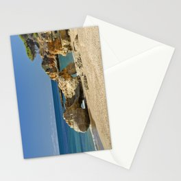 rock formation on Olhos d'Agua beach, Portugal Stationery Cards