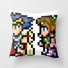 Final Fantasy II - Cecil and Rosa Throw Pillow