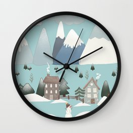 Winter on the Valley Wall Clock