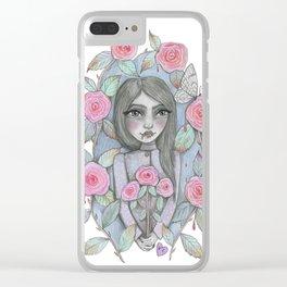creepy garden Clear iPhone Case