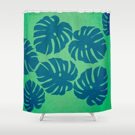 Tropical palms pattern Shower Curtain