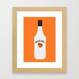 Malibu Bottle Framed Art Print