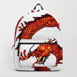 Mythical Red Dragon Backpack