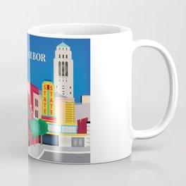 Ann Arbor, Michigan - Skyline Illustration by Loose Petals Coffee Mug