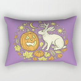 Halloween Friends | Spooky Brights Palette Rectangular Pillow