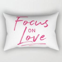Focus on Love Rectangular Pillow